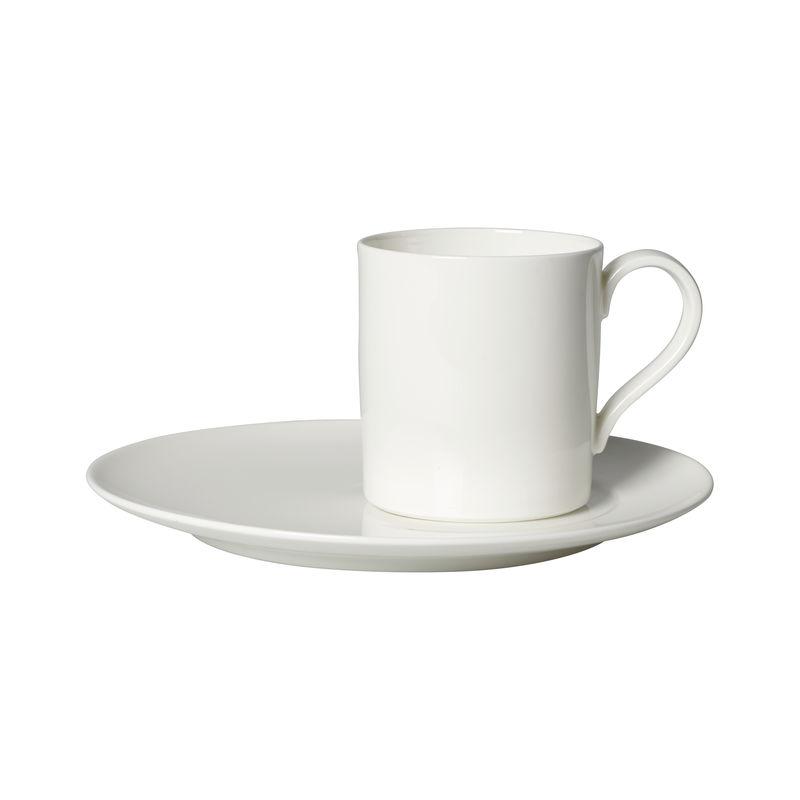Villeroy & Boch - MetroChic blanc - filiżanka do kawy ze spodkiem - pojemność: 0,21 l