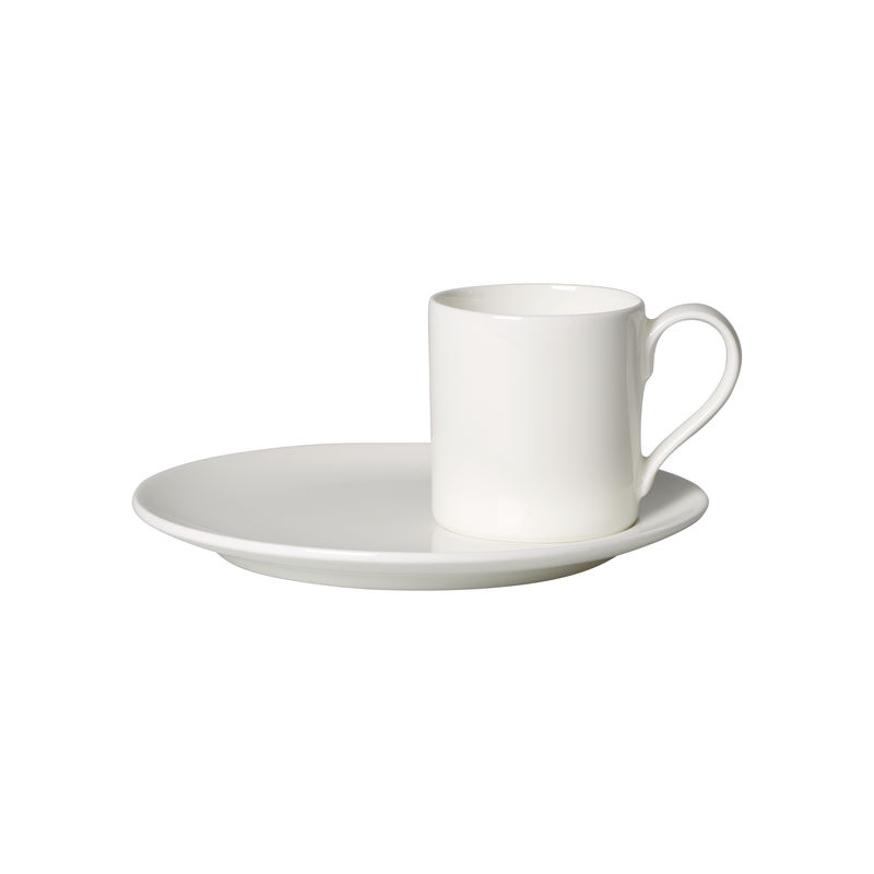 Villeroy & Boch - MetroChic blanc - filiżanka do espresso ze spodkiem - pojemność: 0,08 l