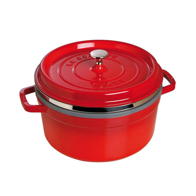 Staub - La Cocotte - garnek żeliwny z wkładem do gotowania na parze - pojemność: 5,25 l