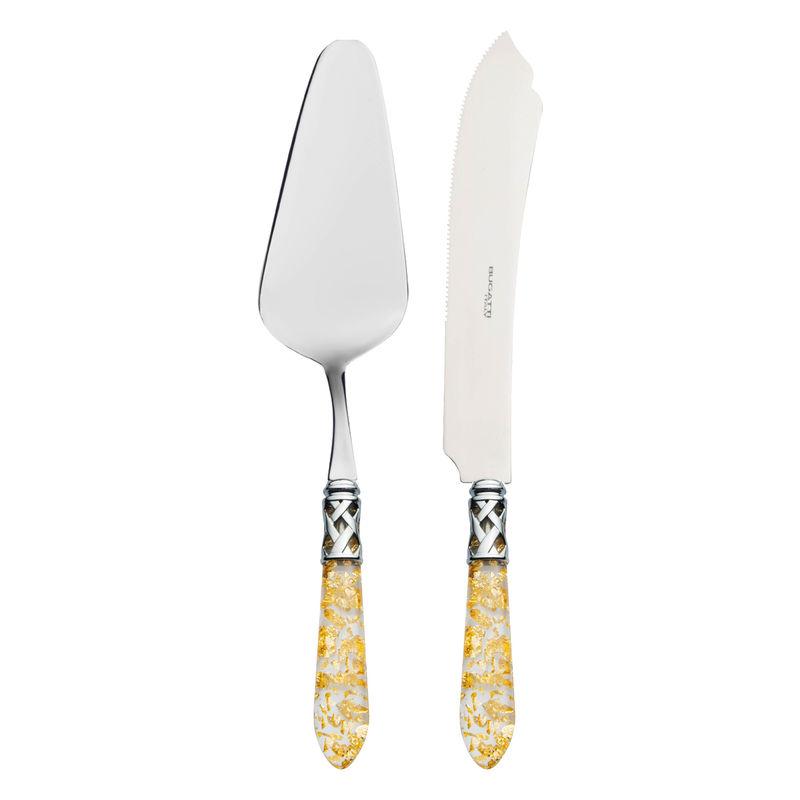 Bugatti - Aladdin Gold - sztućce do serwowania ciasta - łopatka i nóż