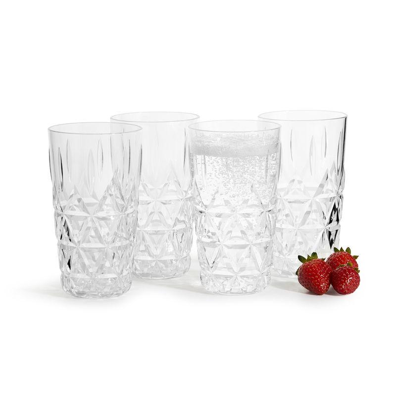 Sagaform - Outdoor Eating - 4 szklanki piknikowe - pojemność: 0,4 l
