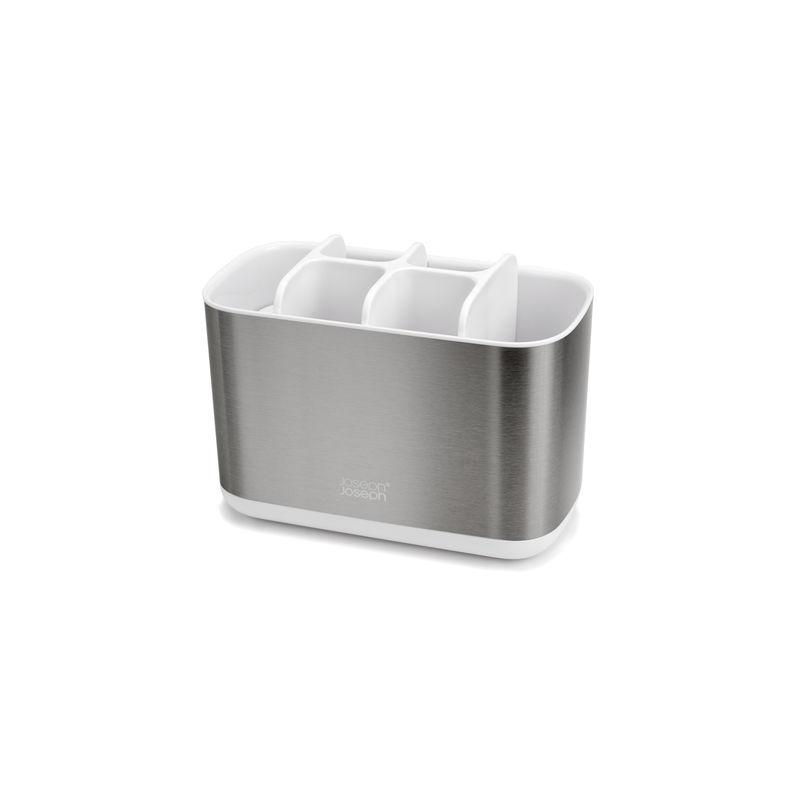 Joseph Joseph - EasyStore Steel - stojak na szczoteczki do zębów - wymiary: 18 x 10 x 13 cm