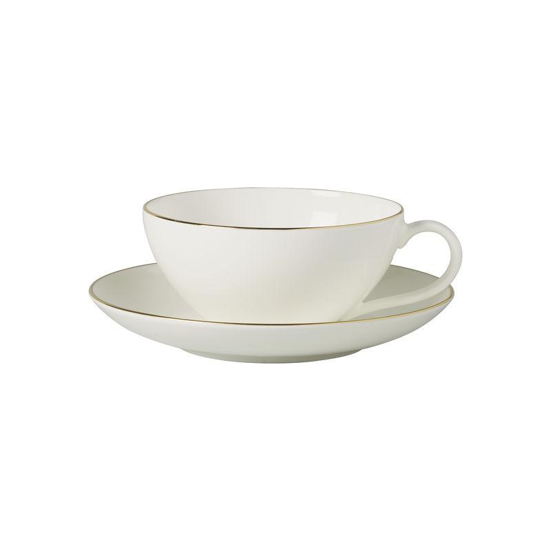 Villeroy & Boch - Anmut Gold - filiżanka do herbaty ze spodkiem - pojemność: 0,2 l