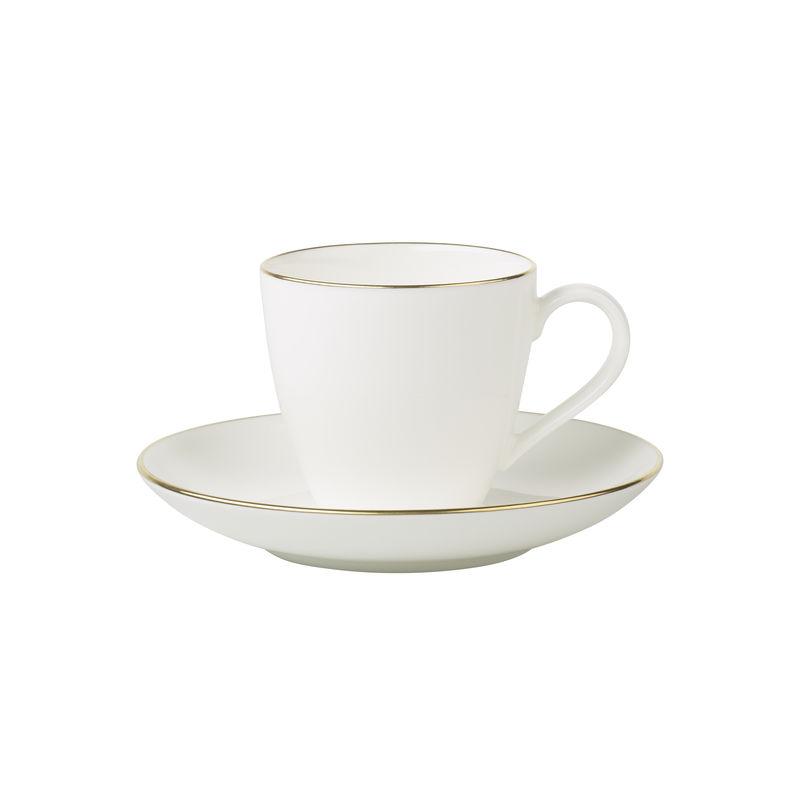 Villeroy & Boch - Anmut Gold - filiżanka do espresso ze spodkiem - pojemność: 0,1 l