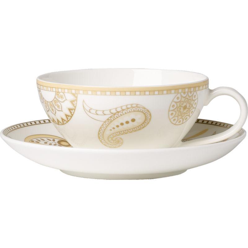 Villeroy & Boch - Anmut Samarah - filiżanka do herbaty ze spodkiem - pojemność: 0,2 l