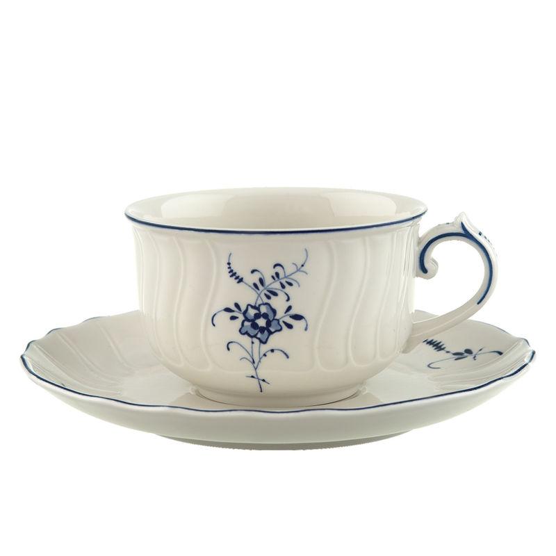Villeroy & Boch - Old Luxembourg - filiżanka do herbaty ze spodkiem - pojemność: 0,2 l