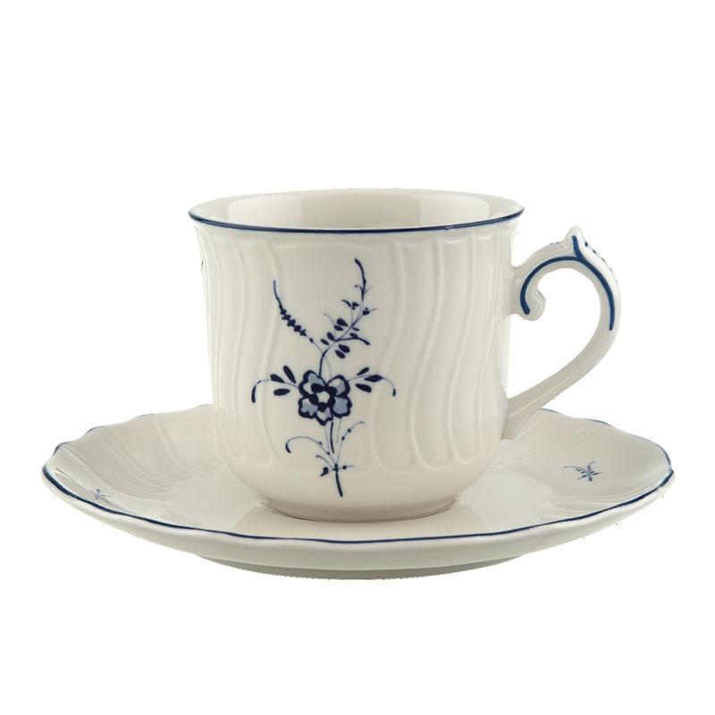 Villeroy & Boch - Old Luxembourg - filiżanka do kawy ze spodkiem - pojemność: 0,20 l
