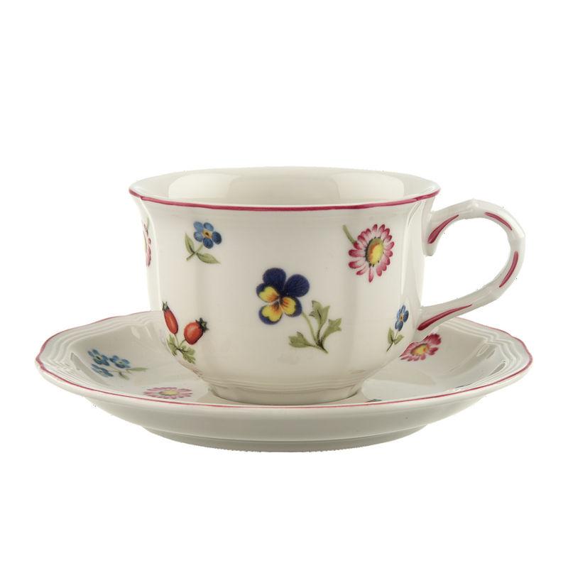 Villeroy & Boch - Petite Fleur - filiżanka do herbaty ze spodkiem - pojemność: 0,2 l