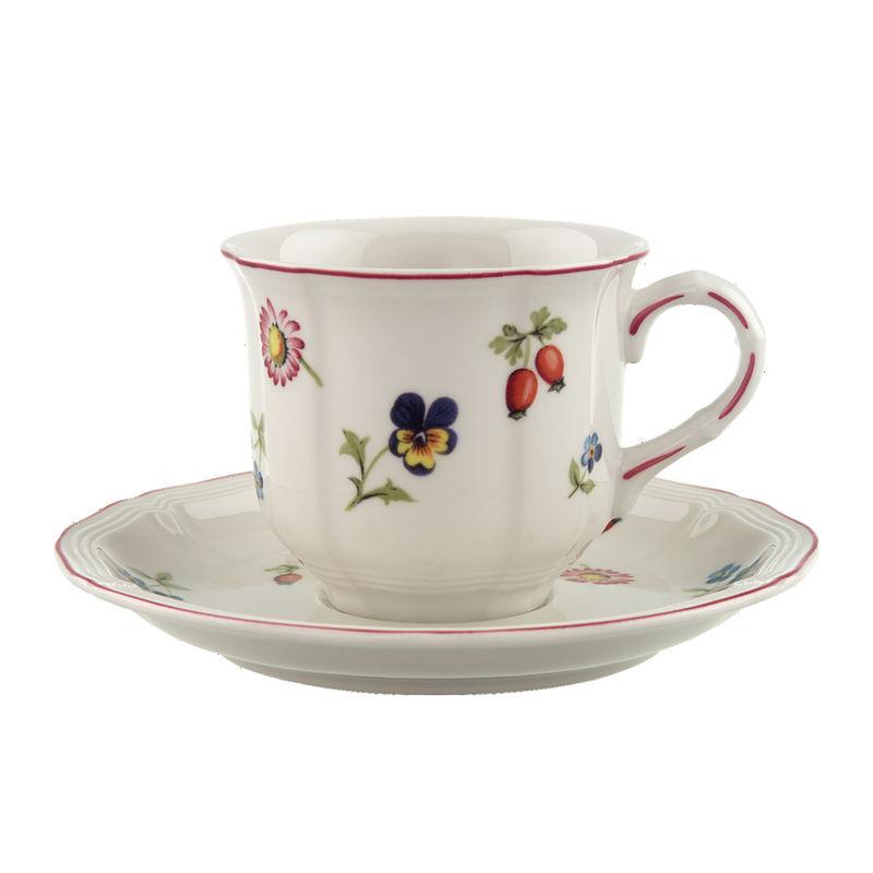 Villeroy & Boch - Petite Fleur - filiżanka do kawy ze spodkiem - pojemność: 0,2 l