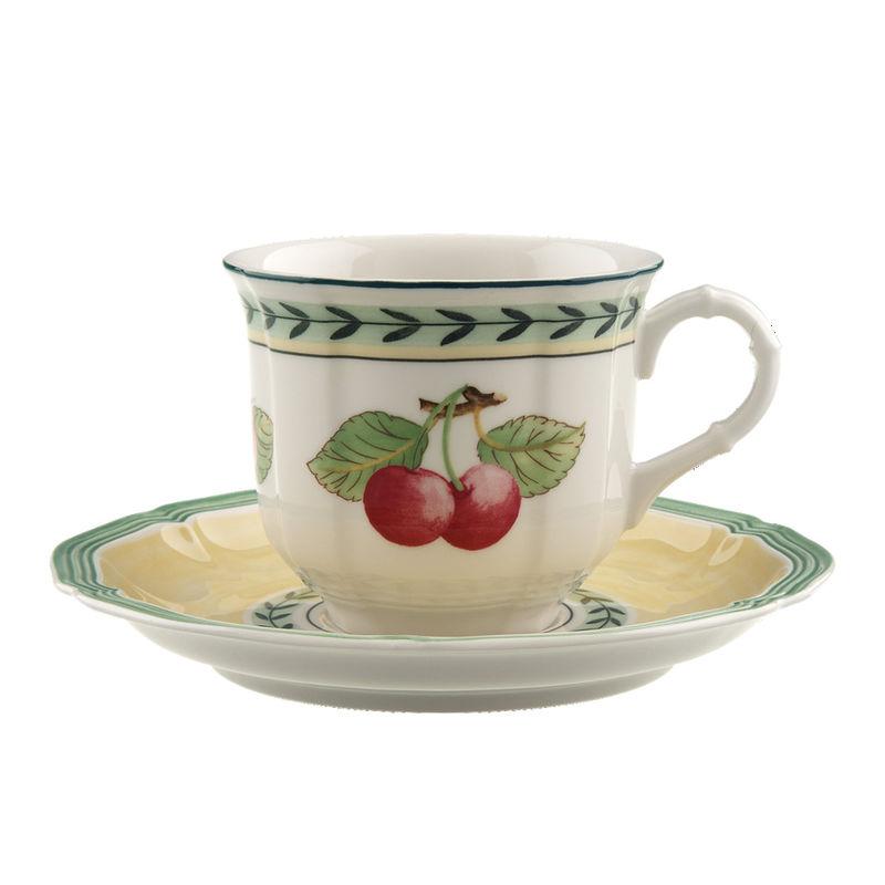 Villeroy & Boch - French Garden Fleurence - filiżanka do kawy ze spodkiem - pojemność: 0,16 l