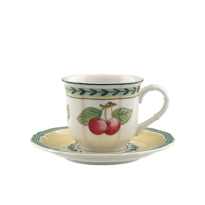 Villeroy & Boch - French Garden Fleurence - filiżanka do espresso ze spodkiem - pojemność: 0,1 l