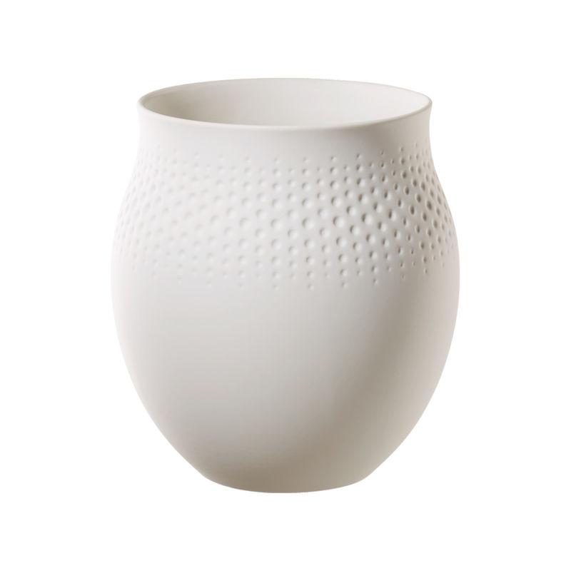 Villeroy & Boch - Manufacture Collier blanc - wazon Perle - wysokość: 17,5 cm