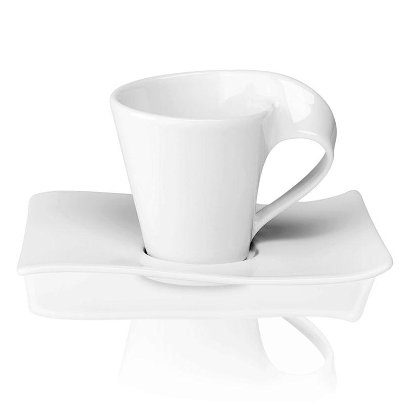 Villeroy & Boch - New Wave - filiżanka do kawy lub herbaty ze spodkiem - pojemność: 0,2 l