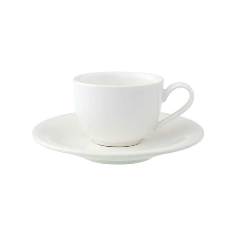 Villeroy & Boch - New Cottage Basic - filiżanka do espresso ze spodkiem - pojemność: 0,08 l