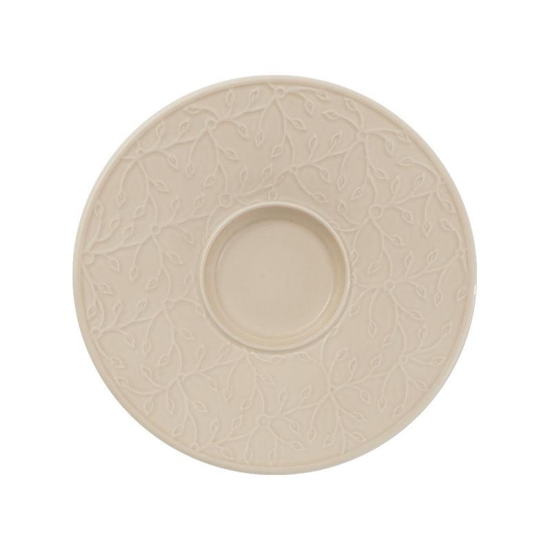 Villeroy & Boch - Caffé Club Floral Touch of Hazel - spodek pod filiżankę do białej kawy - średnica: 17 cm