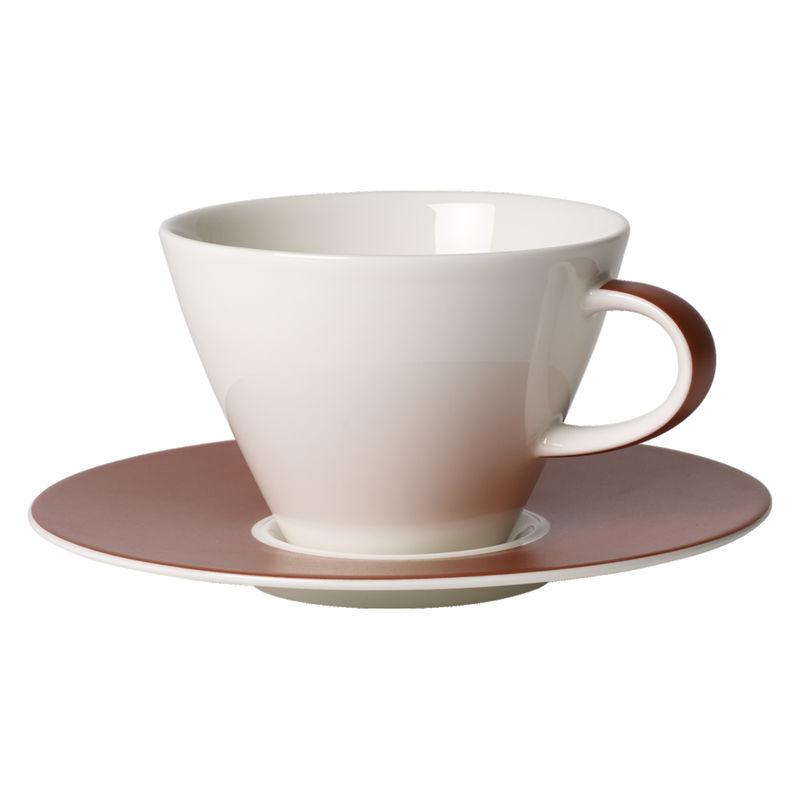 Villeroy & Boch - Caffé Club Uni Oak - filiżanka do białej kawy ze spodkiem - pojemność: 0,39 l