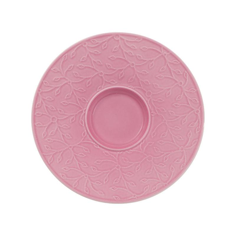 Villeroy & Boch - Caffé Club Floral Touch of Rose - spodek pod filiżankę do białej kawy - średnica: 17 cm