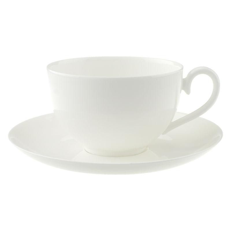Villeroy & Boch - Royal - filiżanka śniadaniowa ze spodkiem - pojemność: 0,4 l