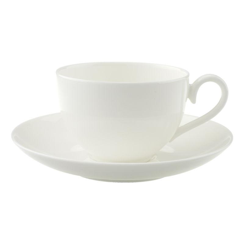 Villeroy & Boch - Royal - duża filiżanka do kawy ze spodkiem - pojemność: 0,26 l