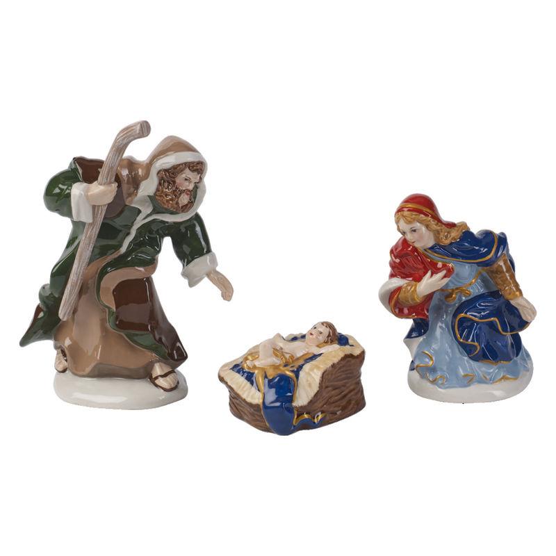 Villeroy & Boch - Nativity - 3 figurki - Święta Rodzina - wysokość: od 3,5 do 12 cm