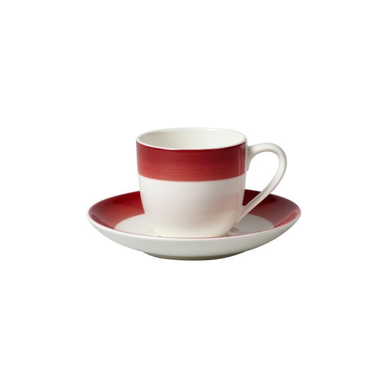 Villeroy & Boch - Colourful Life Deep Red - filiżanka do espresso ze spodkiem - pojemność: 0,23 l