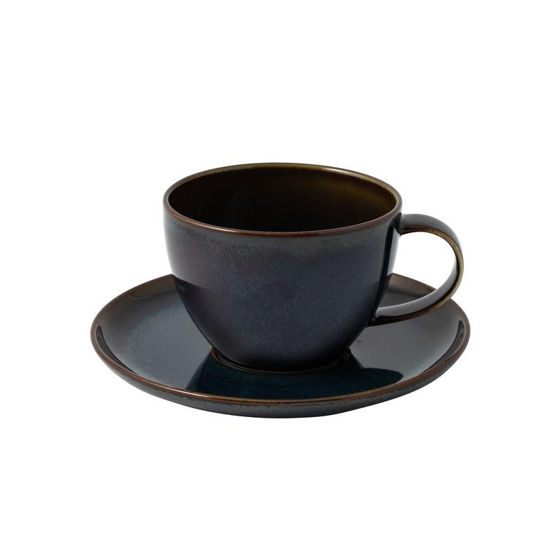 Villeroy & Boch - Crafted Denim - filiżanka do kawy ze spodkiem - pojemność: 0,25 l