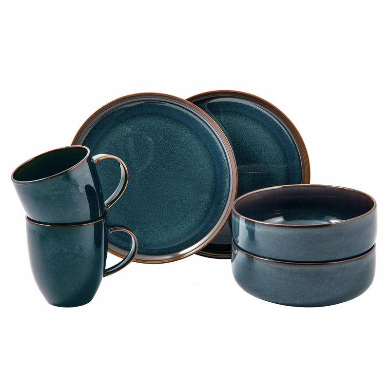 Villeroy & Boch - Crafted Denim - zestaw śniadaniowy - 6 elementów; dla 2 osób