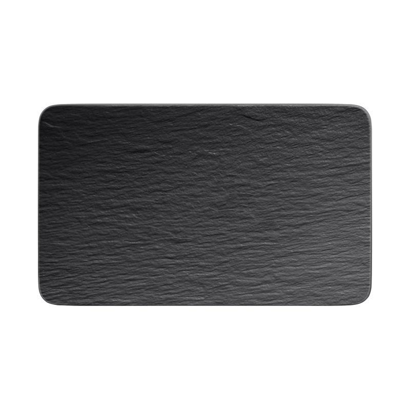 Villeroy & Boch - Manufacture Rock - prostokątny talerz do serwowania - wymiary: 28 x 17 cm