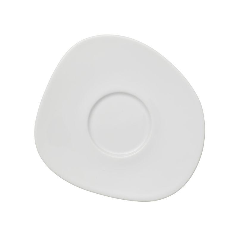 Villeroy & Boch - Organic White - spodek do filiżanki do kawy - wymiary: 17,5 x 16 cm