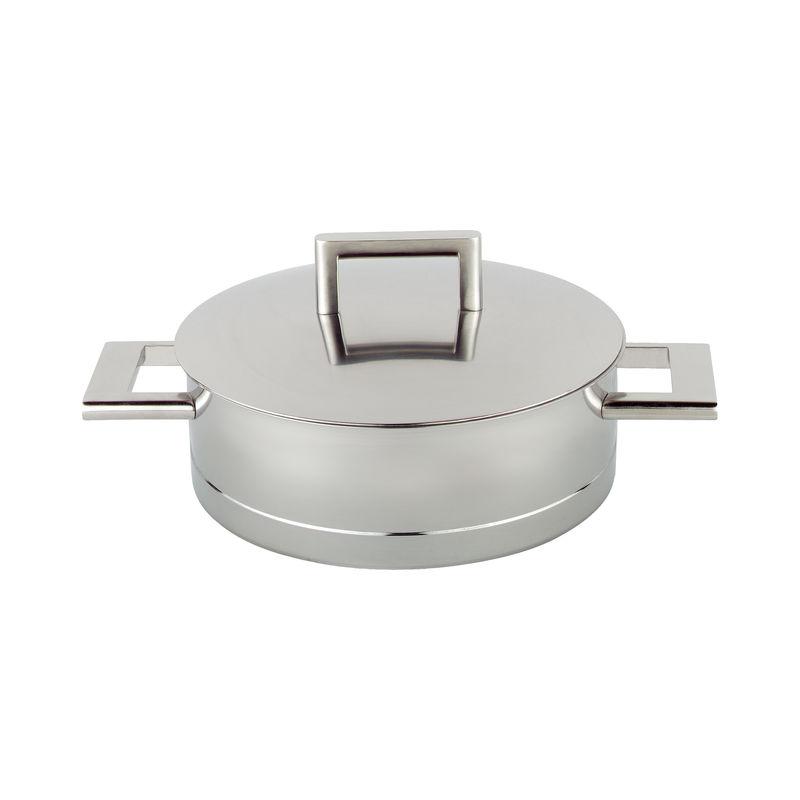 Demeyere - John Pawson - stalowa patelnia do serwowania z pokrywką - średnica: 28 cm