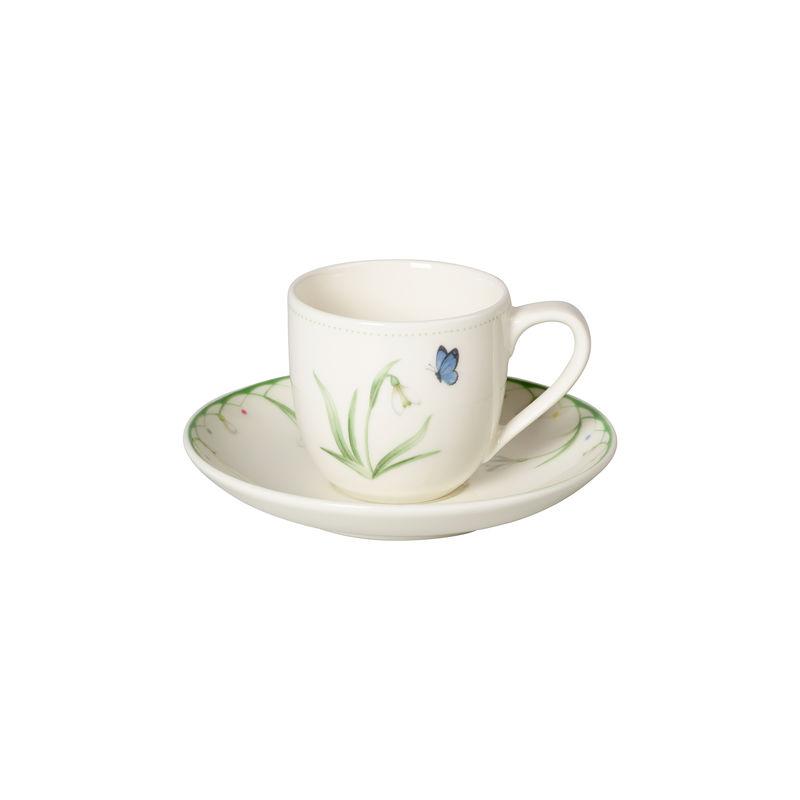 Villeroy & Boch - Colourful Spring - filiżanka do espresso ze spodkiem - pojemność: 0,1 l