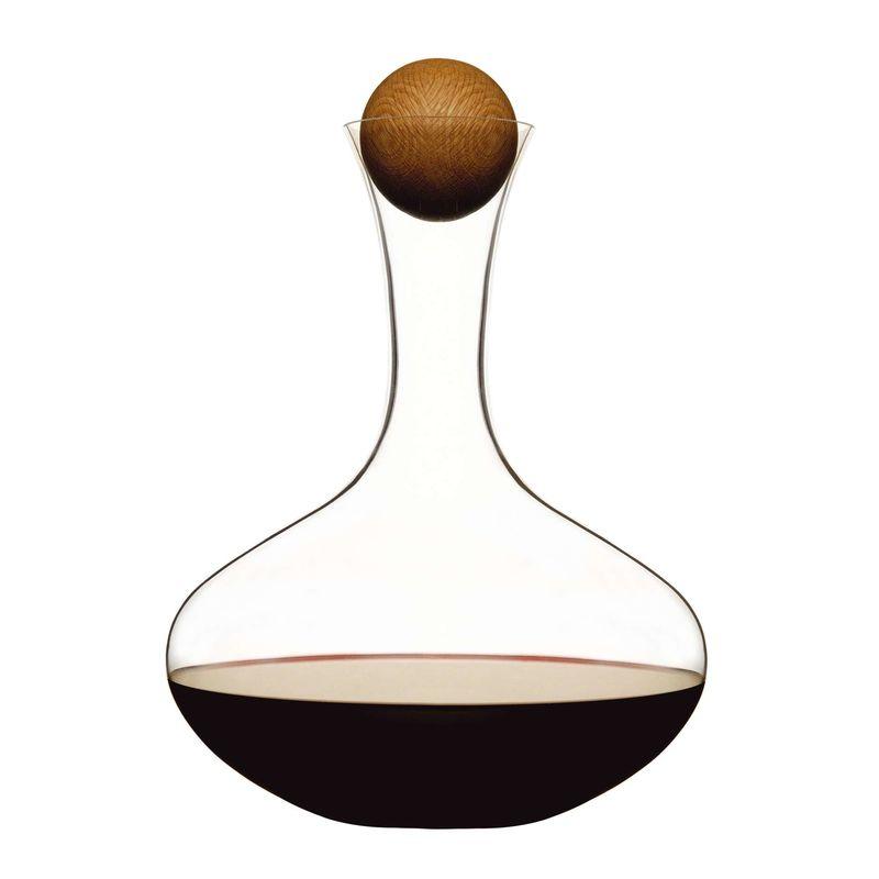 Sagaform - Nature - karafka do wina z dębowym korkiem - pojemność: 2,0 l