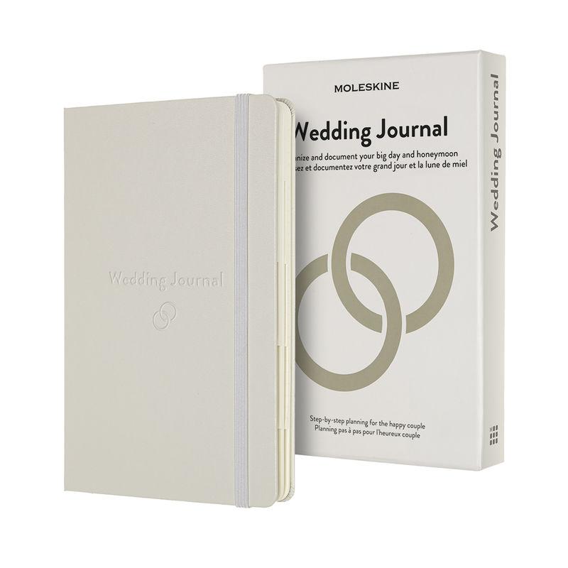 Moleskine - Wedding Journal - notatnik - planer ślubny - wymiary: 13 x 21 cm; 376 stron + 2 broszurki