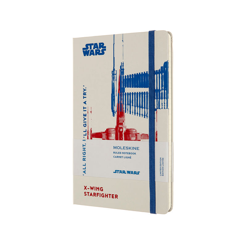 Moleskine - Star Wars - notatnik - X-Wing - wymiary: 13 x 21 cm; w linie