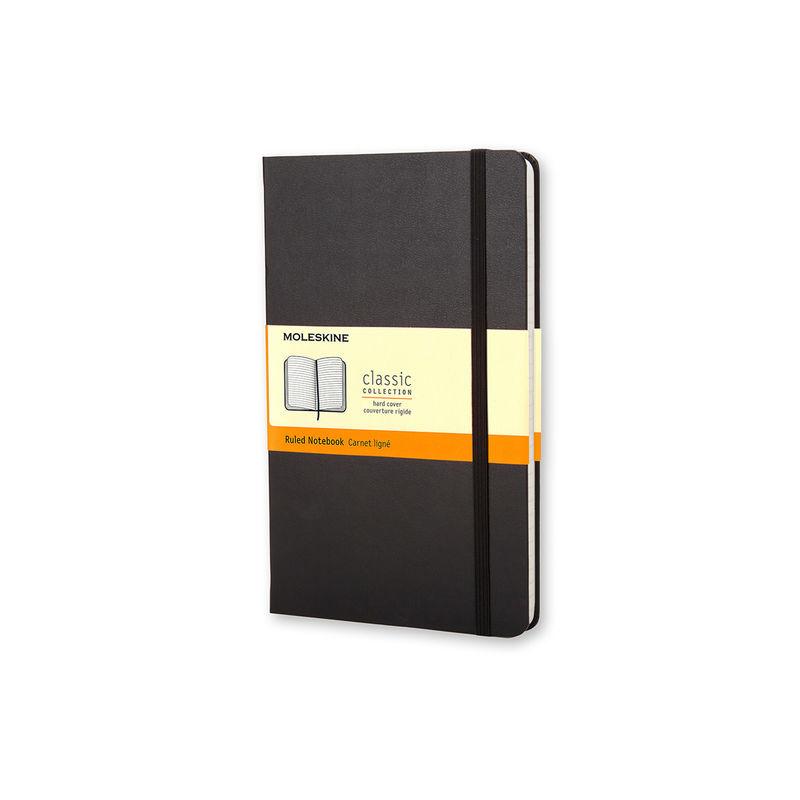 Moleskine - Classic - notatnik w linie - wymiary: 9 x 14 cm; twarda oprawa