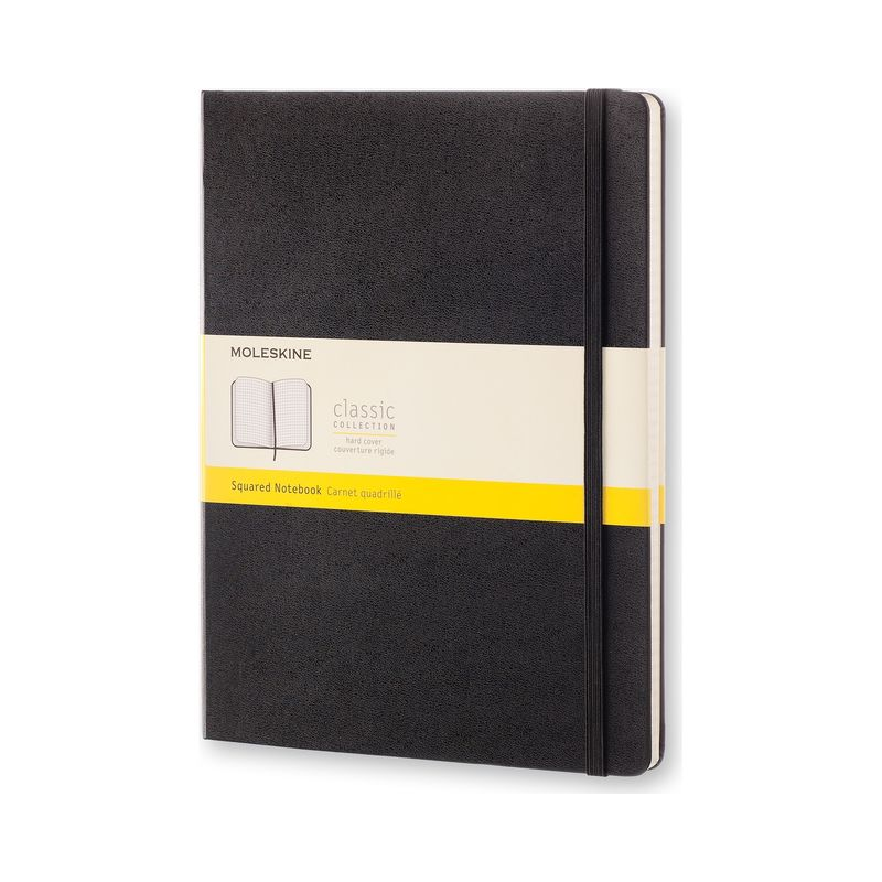 Moleskine - Classic - notatnik w kratkę - wymiary: 19 x 25 cm; twarda oprawa