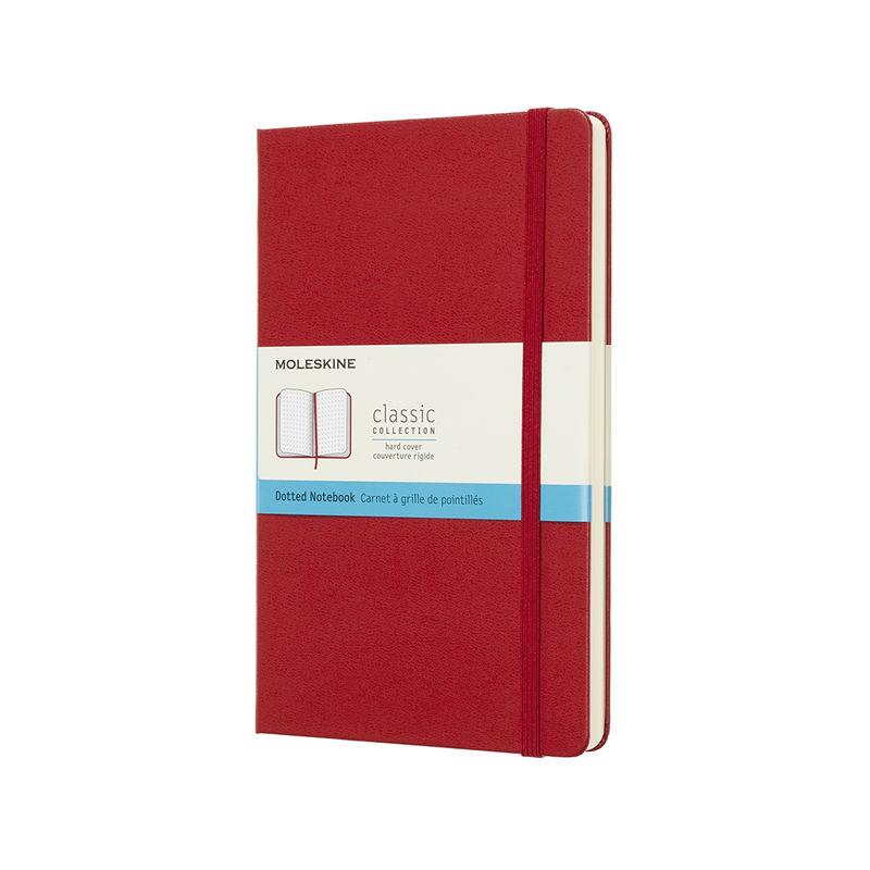Moleskine - Classic - notatnik w kropki - wymiary: 13 x 21 cm; twarda oprawa