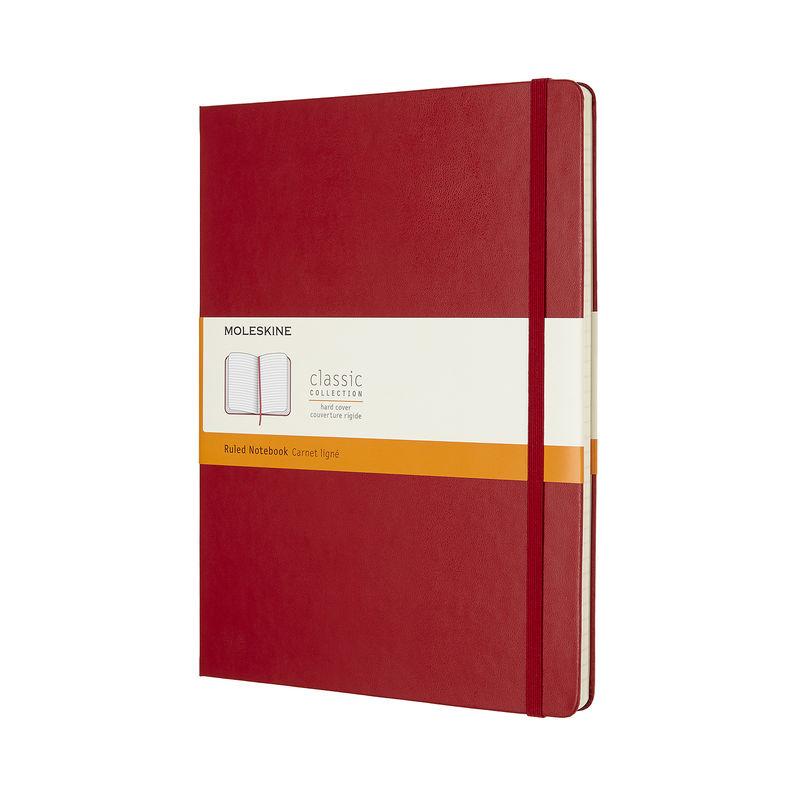Moleskine - Classic - notatnik w linie - wymiary: 19 x 25 cm; twarda oprawa