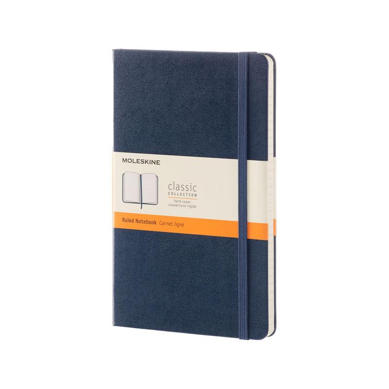 Moleskine - Classic - notatnik w linie - wymiary: 13 x 21 cm; twarda oprawa