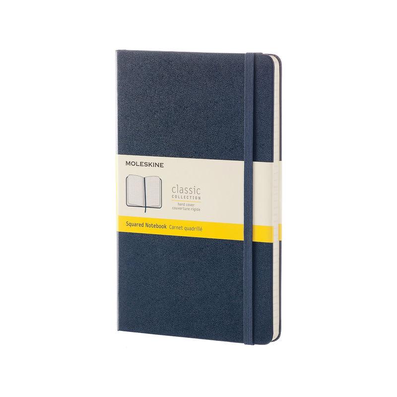 Moleskine - Classic - notatnik w kratkę - wymiary: 13 x 21 cm; twarda oprawa