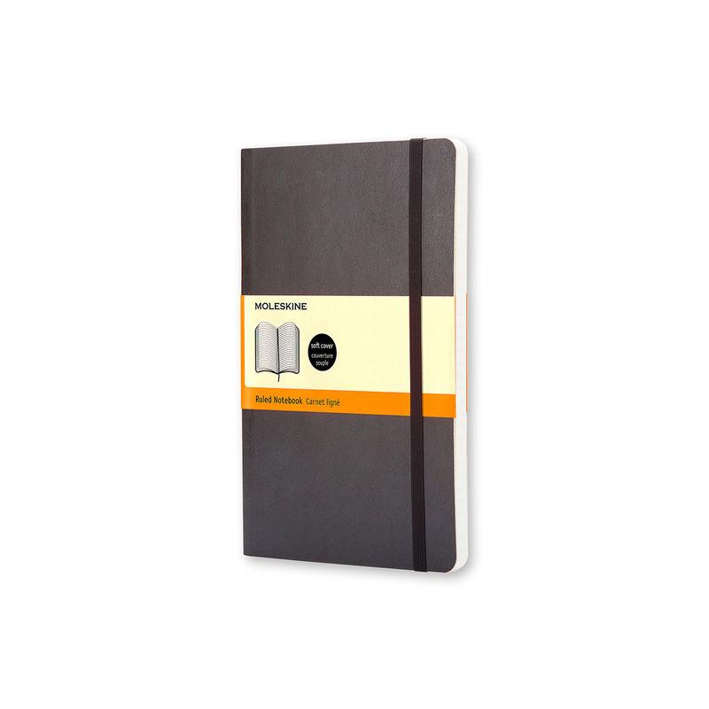 Moleskine - Classic - notatnik w linie - wymiary: 9 x 14 cm; miękka oprawa