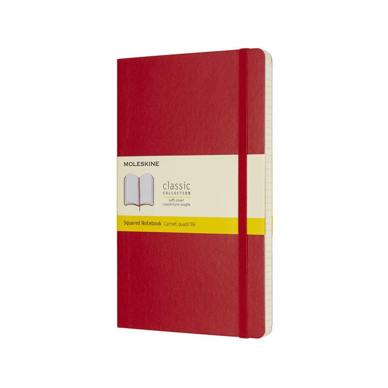 Moleskine - Classic - notatnik w kratkę - wymiary: 13 x 21 cm; miękka oprawa