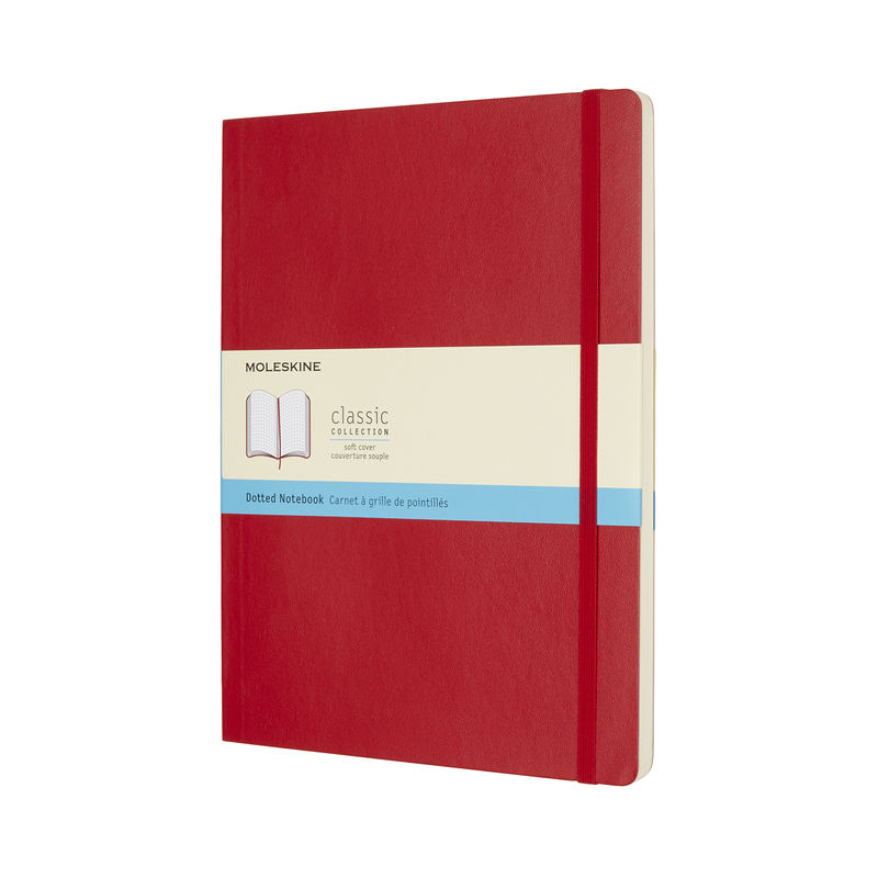 Moleskine - Classic - notatnik w kropki - wymiary: 19 x 25 cm; miękka oprawa