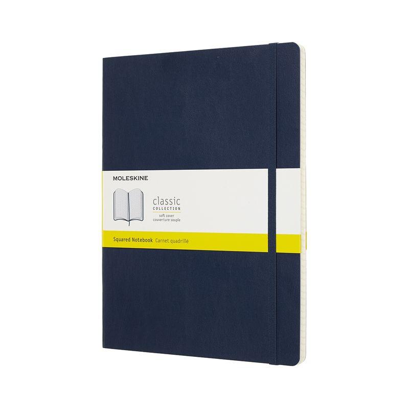 Moleskine - Classic - notatnik w kratkę - wymiary: 19 x 25 cm; miękka oprawa