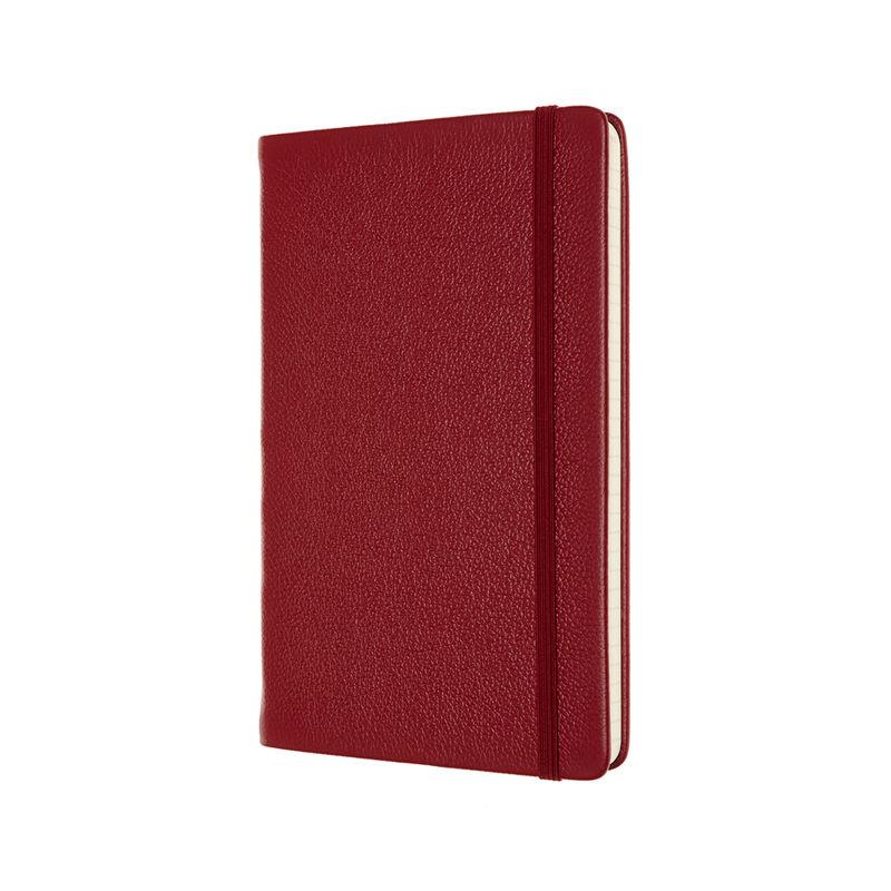 Moleskine - Classic Leather - notatnik w linie - wymiary: 13 x 21 cm; twarda skórzana oprawa