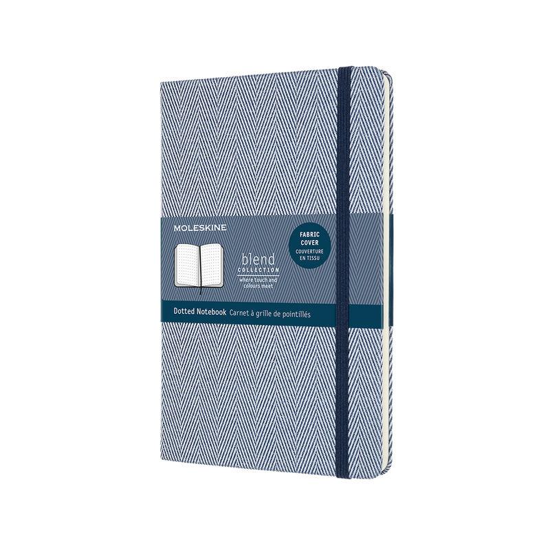 Moleskine - Blend - notatnik w kropki - wymiary: 13 x 21 cm; twarda oprawa z tkaniny