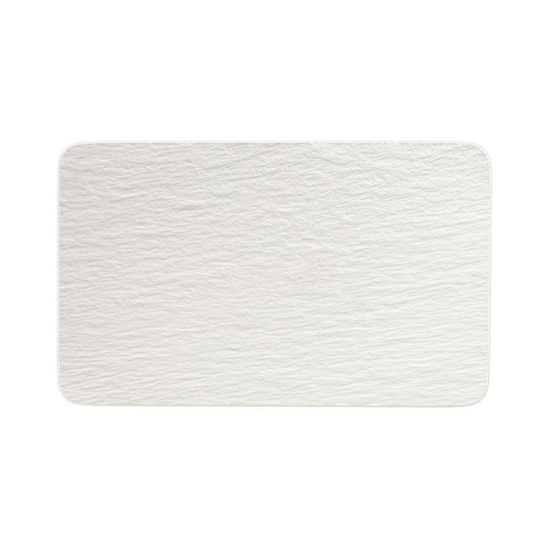 Villeroy & Boch - Manufacture Rock blanc - prostokątny talerz do serwowania - wymiary: 28 x 17 cm
