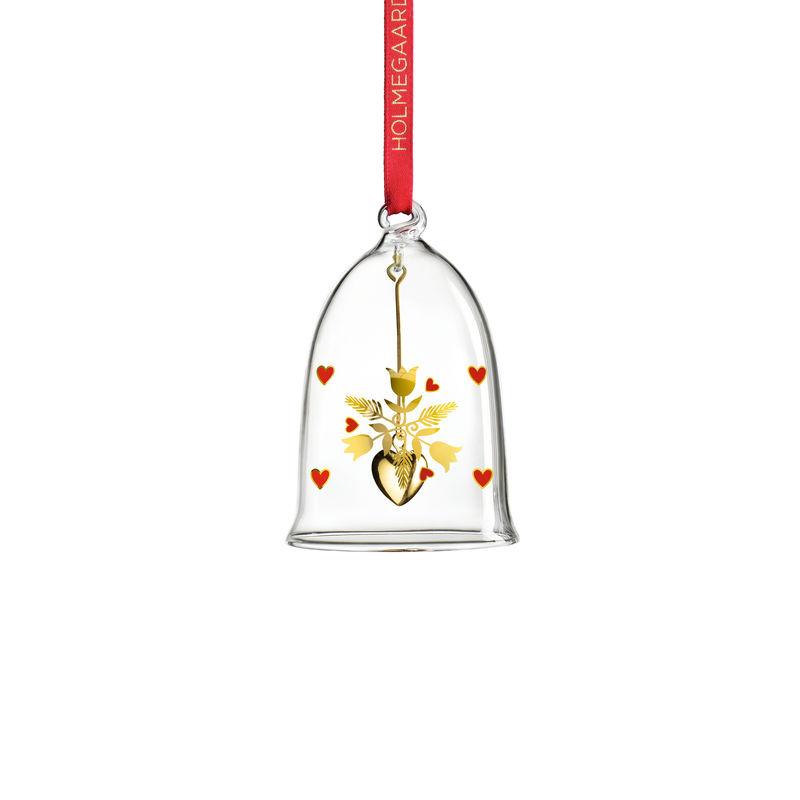 Holmegaard - Christmas - zawieszka dzwonek - wysokość: 8 cm; stroik
