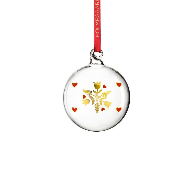 Holmegaard - Christmas - bombka - wysokość: 7 cm; stroik