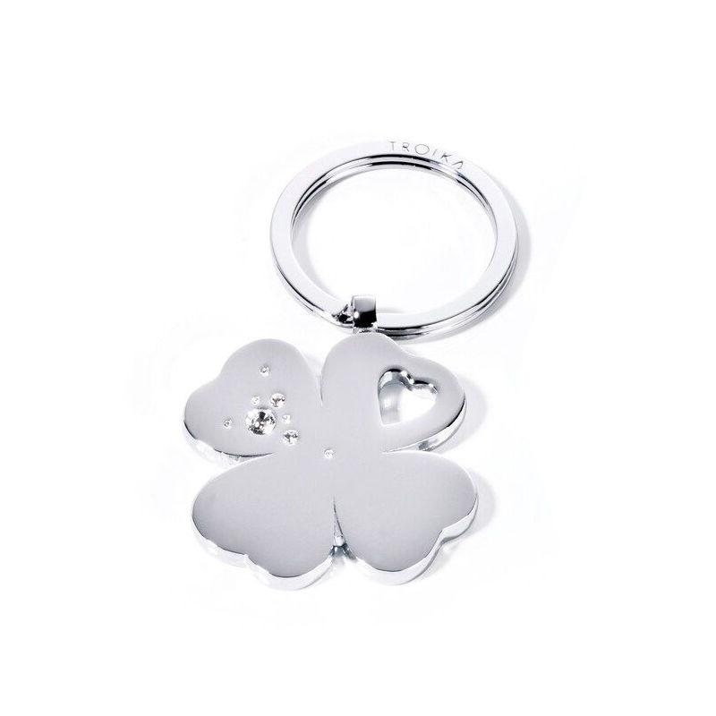 Troika - Clover - brelok - długość: 7,5 cm; ozdobiony kryształkami Swarovskiego